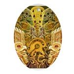 Tribal Gold Ornament (Oval)