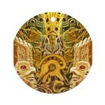 Tribal Gold Ornament (Round)