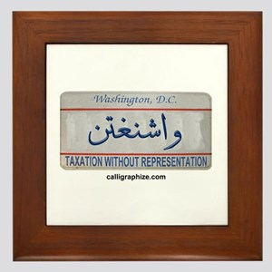 Washington D.C. License Plate Framed Tile