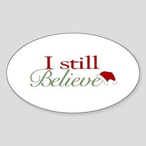 I Still Believe (Santa Claus) Oval Sticker
