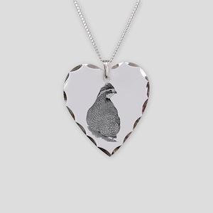 Bobwhite Quail Necklace Heart Charm