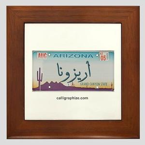 Arizona License Plate Framed Tile