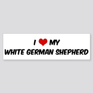 I Love: White German Shepherd Bumper Sticker