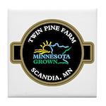 Tile Coaster, Twin Pine MN Grown Seal