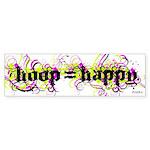 HOOP=HAPPY Sticker (Bumper)