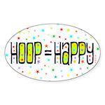 HOOP=HAPPY Sticker (Oval)