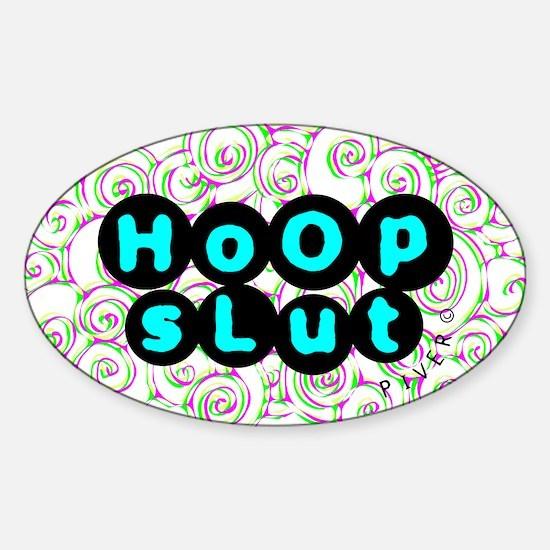 HoopSlut Sticker (Oval)