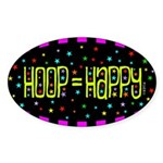 HOOP=HAPYY Sticker Sticker (Oval)