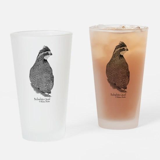 Bobwhite Quail Drinking Glass