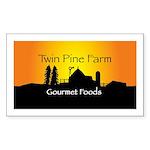 Rectangle Sticker, Twin Pine farmsca