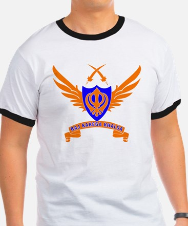 Raj Karega Khalsa. Orange T-Shirt