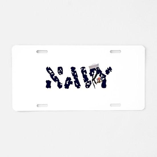 navy.jpg Aluminum License Plate