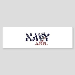navysister Sticker (Bumper)