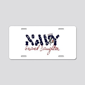 navygranddaughter Aluminum License Plate