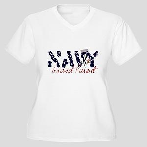 navygrandparent Women's Plus Size V-Neck T-Shi