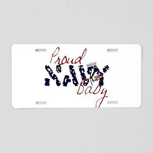 proudnavybaby Aluminum License Plate