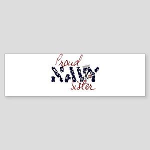 proudnavysister Sticker (Bumper)