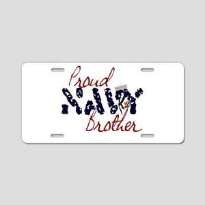 proudnavybrother Aluminum License Plate