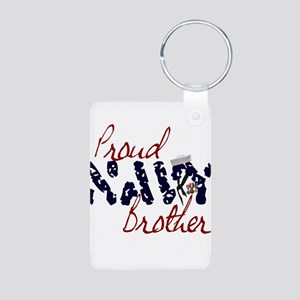 proudnavybrother Aluminum Photo Keychain