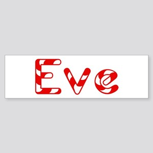 Eve - Candy Cane Bumper Sticker