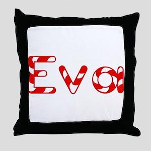 Eva - Candy Cane Throw Pillow