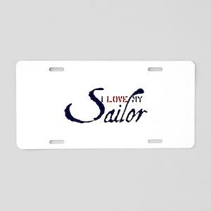 6x6_apparel_LOVEMINE5_2 Aluminum License Plate