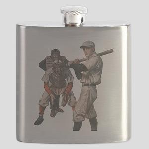 Vintage Sports Baseball Flask