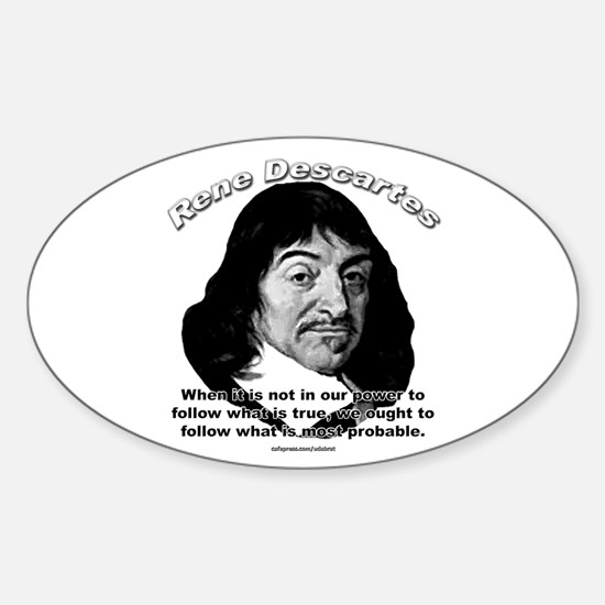 René Descartes 01 Oval Decal