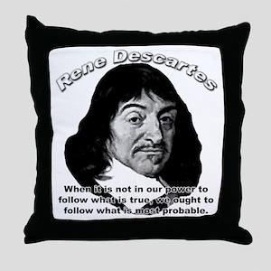 René Descartes 01 Throw Pillow