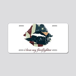firefighterkiss Aluminum License Plate
