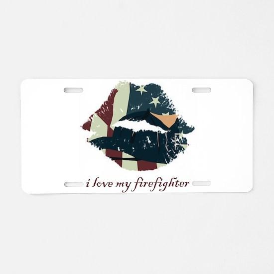 firefighterkiss.png Aluminum License Plate