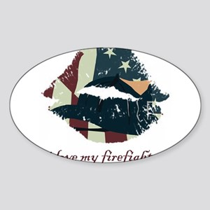 firefighterkiss Sticker (Oval)