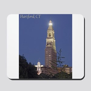 Travelers Tower at Night Mousepad
