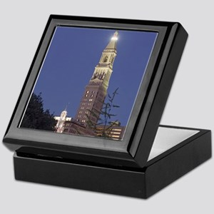 Travelers Tower at Night Keepsake Box