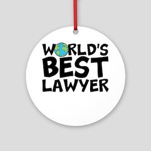 World's Best Lawyer Round Ornament