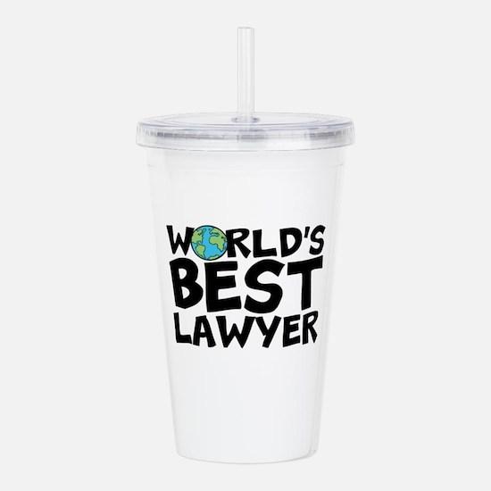 World's Best Lawyer Acrylic Double-wall Tumble