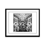 Tribal Art BW Framed Panel Print