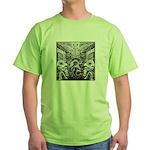 Tribal Art BW Green T-Shirt