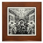 Tribal Art BW Framed Tile