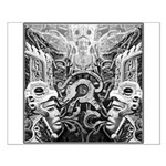 Tribal Art BW Small Poster