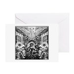 Tribal Art BW Greeting Card