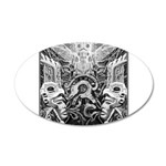 Tribal Art BW 20x12 Oval Wall Decal