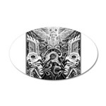 Tribal Art BW 35x21 Oval Wall Decal