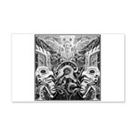 Tribal Art BW 20x12 Wall Decal