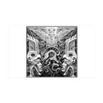 Tribal Art BW 35x21 Wall Decal