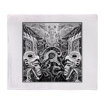 Tribal Art BW Throw Blanket