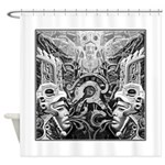 Tribal Art BW Shower Curtain