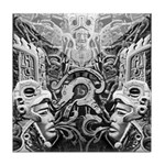 Tribal Art BW Tile Coaster