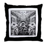 Tribal Art BW Throw Pillow