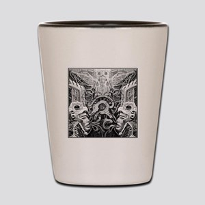 Tribal Art BW Shot Glass